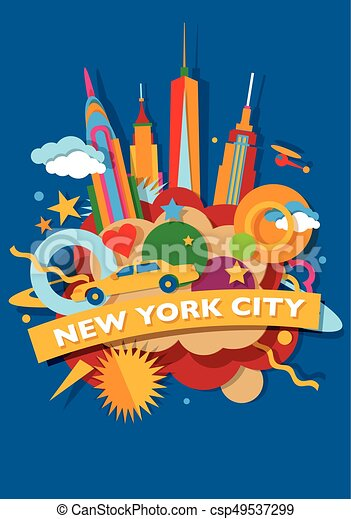 New York City skyline - csp49537299