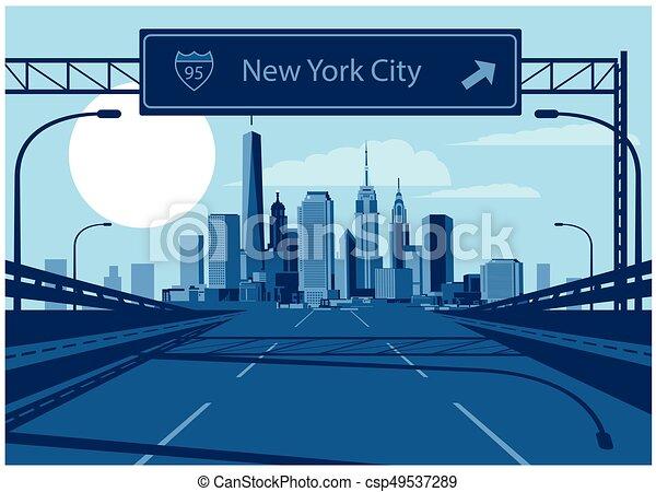 New York City skyline - csp49537289