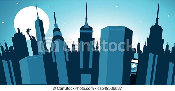 New York City skyline - csp49536837