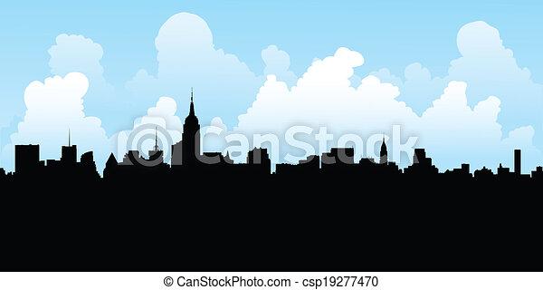 New York City Skyline - csp19277470