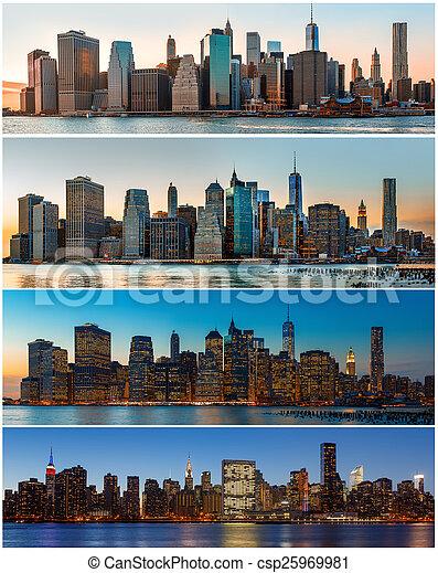 New York City skyline panorama - csp25969981