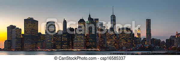 New York City skyline panorama - csp16585337