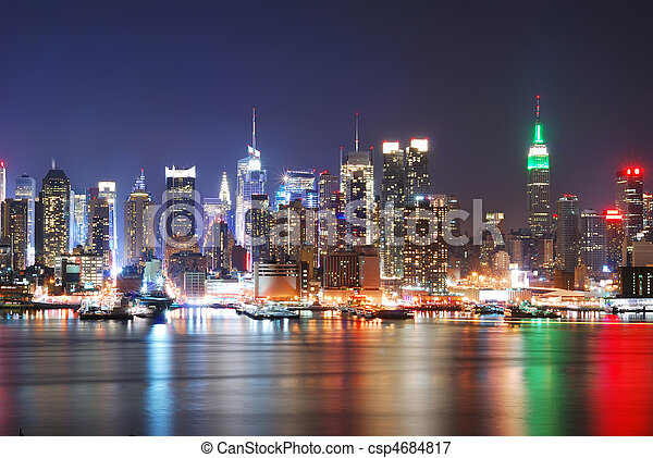 New York City Skyline - csp4684817
