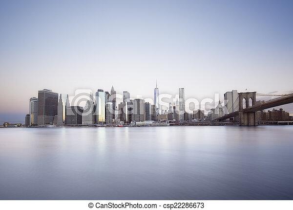 New York City sunrise - csp22286673