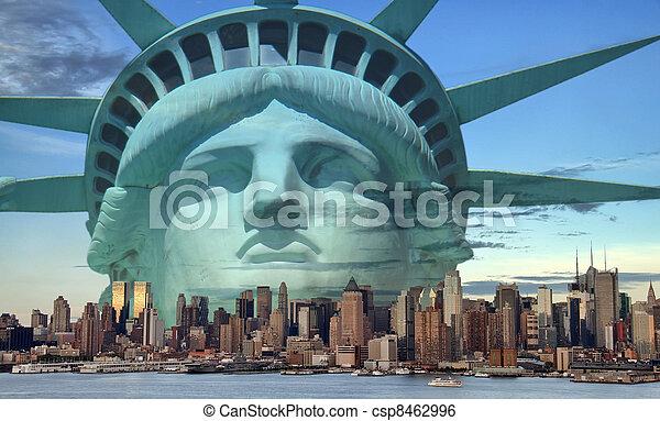new york city tourism concept - csp8462996