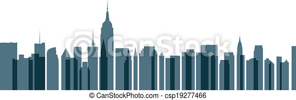 New York City Transparent Skyline - csp19277466