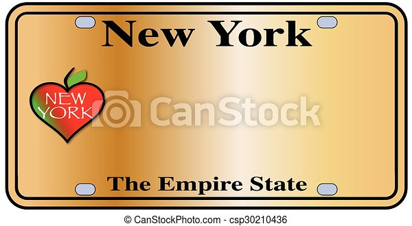 New York Empire State Plate - csp30210436
