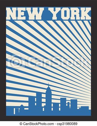 new york, etichetta - csp31980089