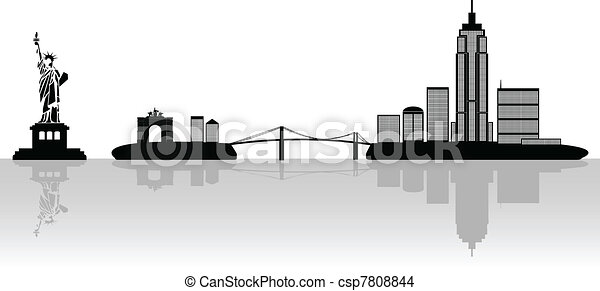 New York illustration - csp7808844