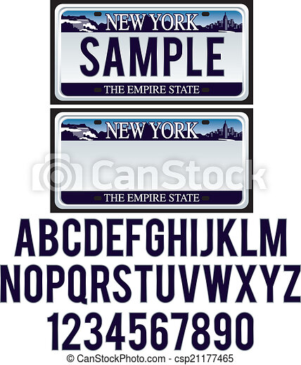 New York License Plate - csp21177465