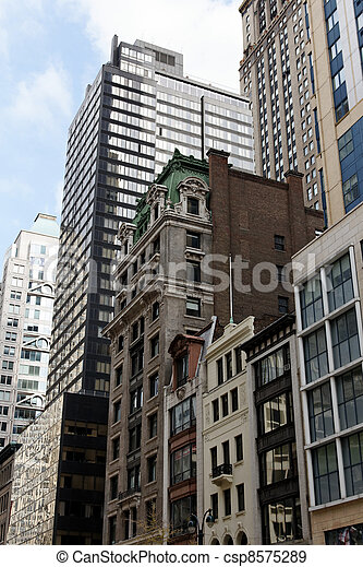 new york manhattan street view the vastly architecture styles of