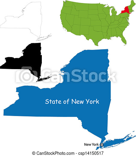 New york map State of new york usa vector clip art Search