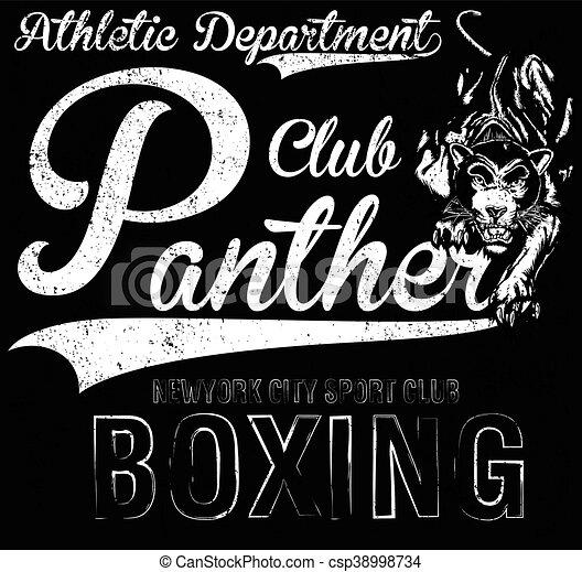 new york panther t-shirt graphic - csp38998734