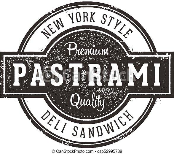 New York Pastrami Sandwich Sign - csp52995739