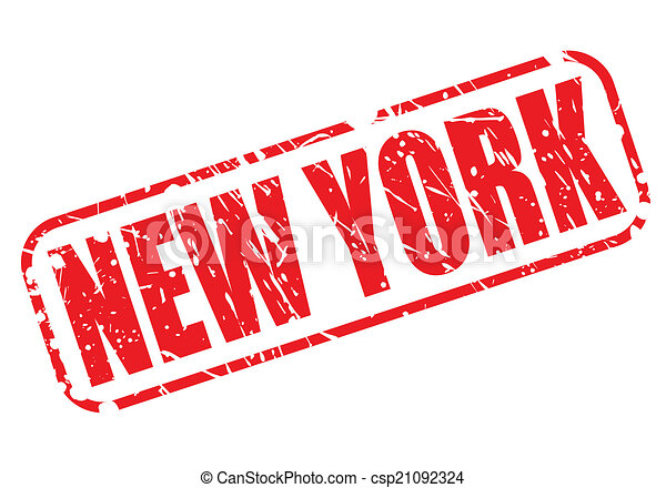 New York red stamp text - csp21092324