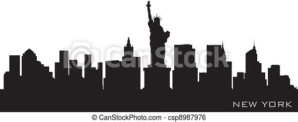 New york skyline detailed vector silhouette clip art vector new york skyline detailed vector silhouette voltagebd Image collections