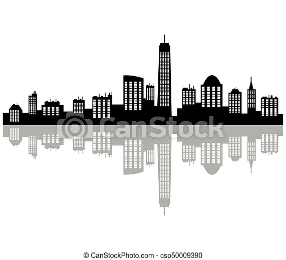 New York Skyline Eps Vectors Search Clip Art Illustration