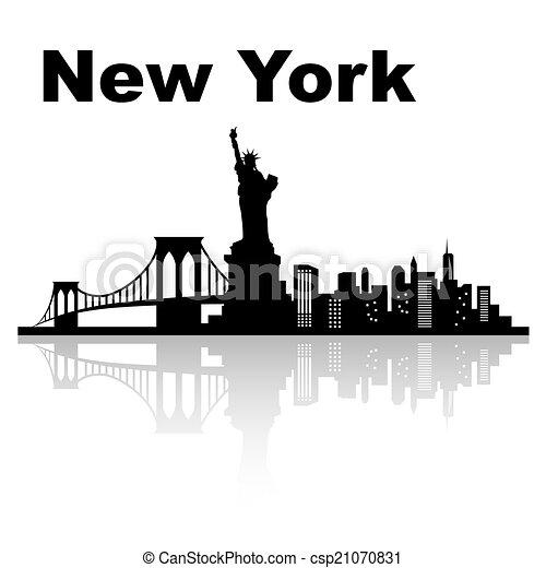 New york skyline - csp21070831