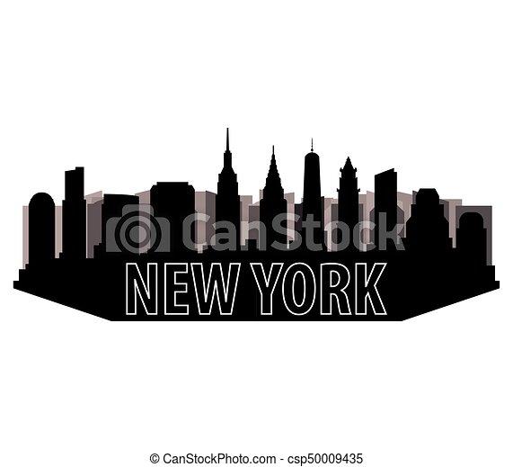 new york skyline - csp50009435