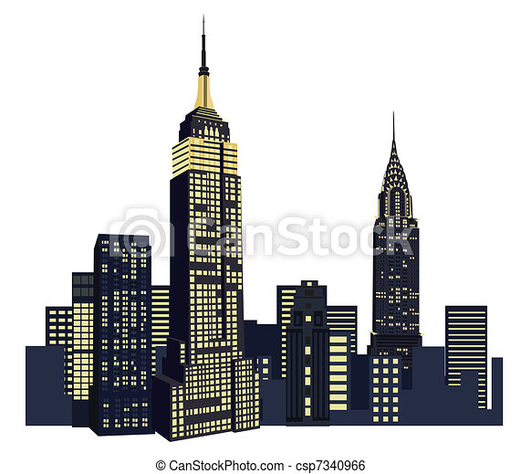 illustration with new york skyscrapers rh canstockphoto com skyscraper clipart black and white Skyscraper Graph