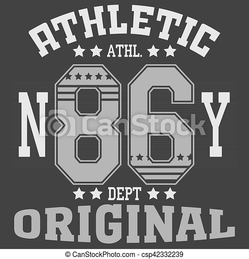 Fashion Typography Graphics New York Sport T Shirt Design Vector