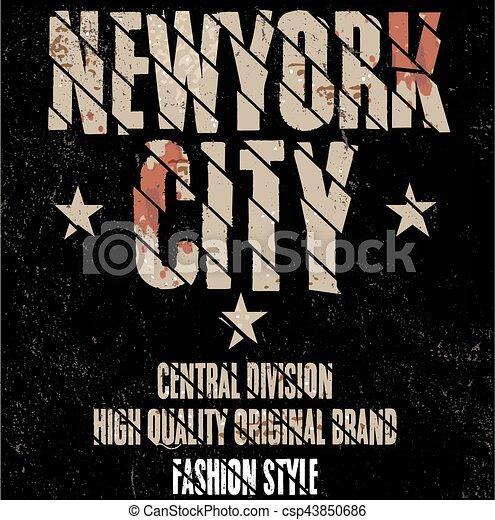 New york sport wear typography emblem 3228d8b1a