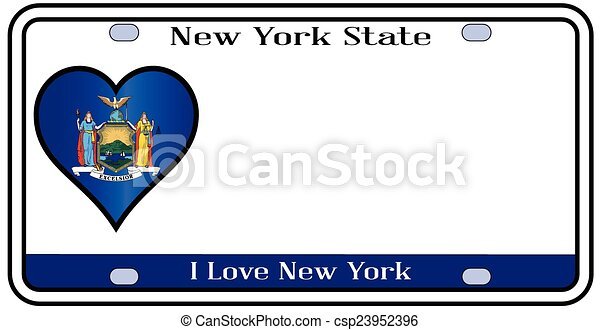 New York State License Plate - csp23952396