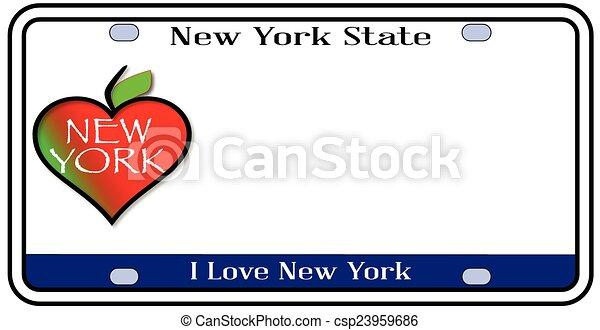 New York State License Plate - csp23959686