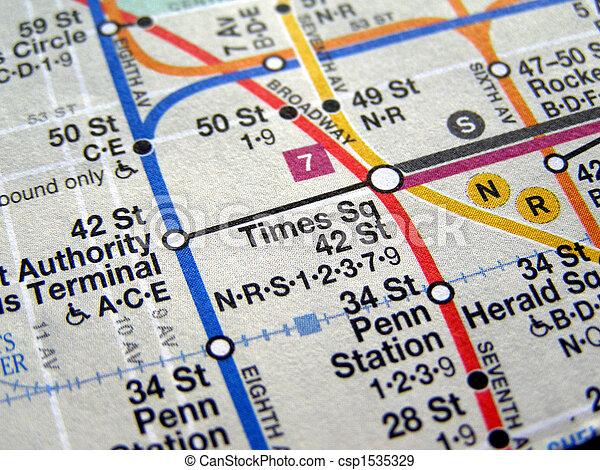 New york subway map. Subway map of the new york underground metro ...