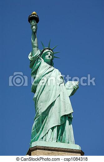 new york, szobor, szabadság - csp1084318