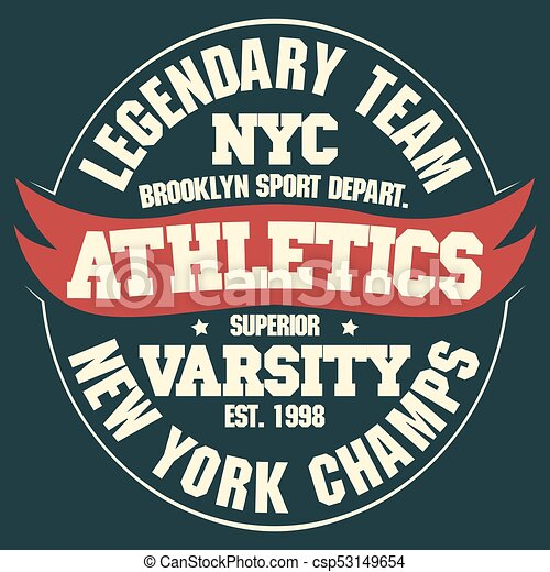 New york t-shirt graphics. New york sport wear typography emblem 9ddf22f8f