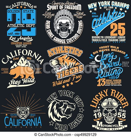 New york t-shirt graphics. T-shirt stamp graphic set 85d7fad51