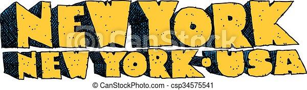 New York Text - csp34575541