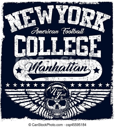 New york Varsity Sport vector print and varsity. For t-shirt or other uses in vector.T shirt graphic - csp45595184