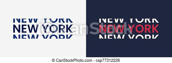 New York word text in modern minimal style. - csp77312226