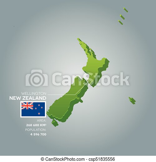3d Map Of New Zealand.New Zealand Information Map