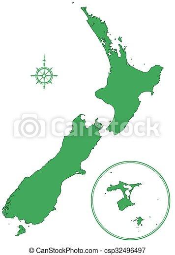 Map Australia And New Zealand.New Zealand Map