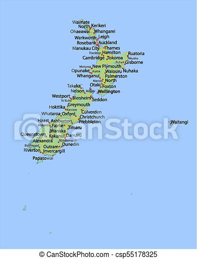 Show Map Of New Zealand.New Zealand World Countries Vectormap A