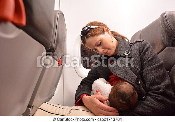 Newborn Baby air travel - csp21713784