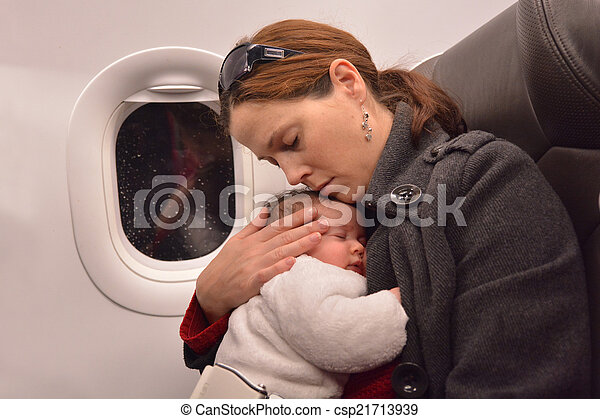 Newborn Baby air travel - csp21713939