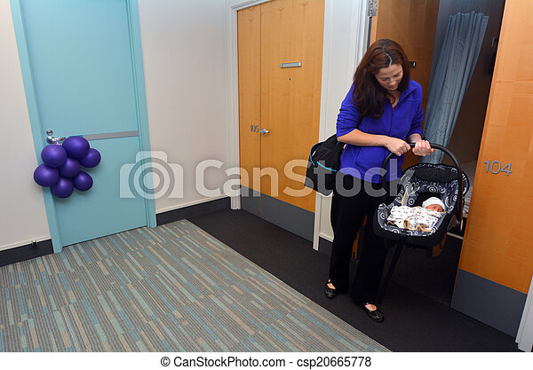 Newborn baby going home from hospital  - csp20665778