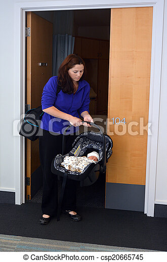 Newborn baby going home from hospital  - csp20665745