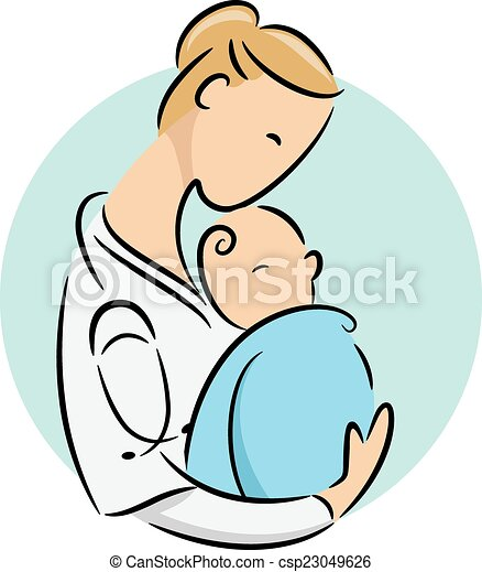 newborn doctor icon icon illustration featuring a doctor vector rh canstockphoto com clipart newborn baby boy clipart newborn baby boy