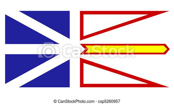 Newfoundland and Labrador flag - csp5260957