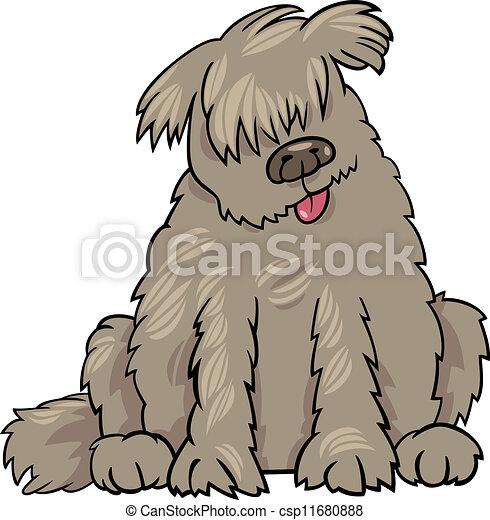 newfoundland dog cartoon illustration - csp11680888