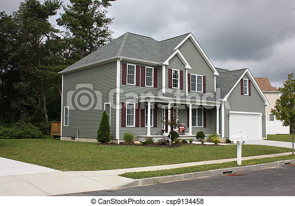 Newly completed Residential house - csp9134458