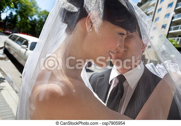 Newlywed Couple - csp7905954