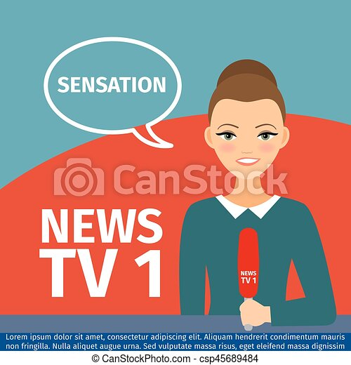 News anchor woman - csp45689484