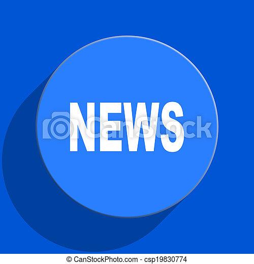 news blue web flat icon - csp19830774