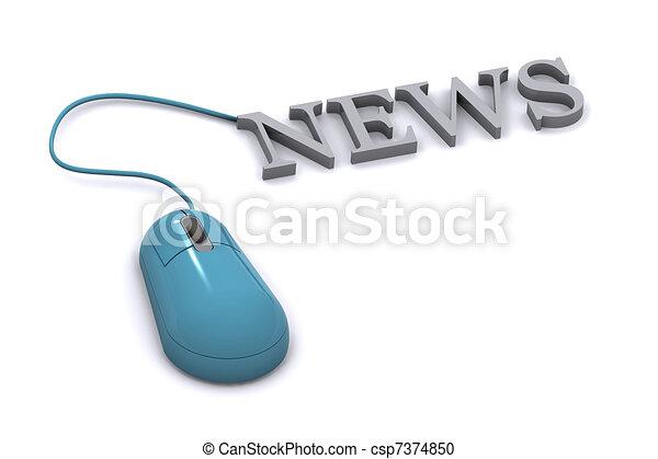 News Concept - csp7374850